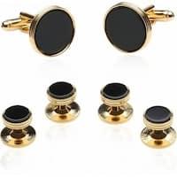 Onyx And Gold Wedding Set