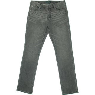 LRL Lauren Jeans Co. Womens Denim Stretch Straight Leg Jeans