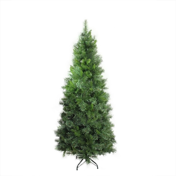 7.5' Mixed Cashmere Pine Medium Artificial Christmas Tree - Unlit - green