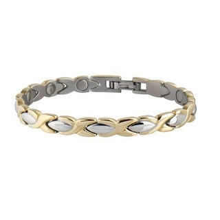 Sabona Jewelry Womens Bracelet Lady Executive Braid Magnetic Gold 332