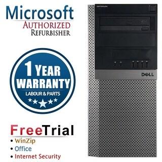 Refurbished Dell OptiPlex 960 Tower Intel Core 2 Quad Q6600 2.4G 4G DDR2 500G DVDRW Win 7 Pro 64 Bits 1 Year Warranty - Black
