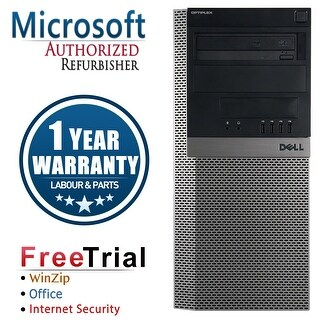 Refurbished Dell OptiPlex 980 Tower Intel Core I5 650 3.2G 16G DDR3 320G DVDRW Win 7 Pro 64 Bits 1 Year Warranty - Black
