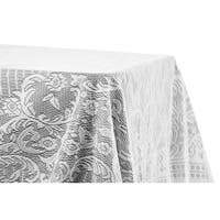 "Quaker Lace Table Overlay Topper 60""x120"" rectangular - White"