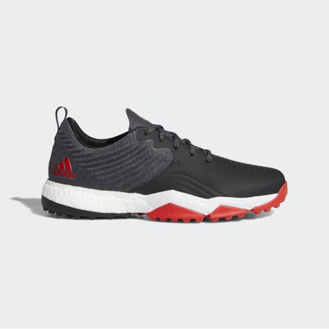New Adidas Adipower 40RGED S Black/Red/White Golf Shoes DA9431 (MED)