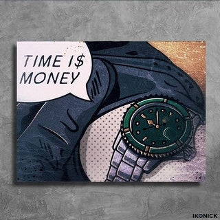 IKONICK Time is Money Canvas Art