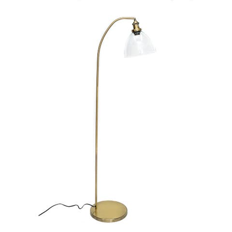Newburgh 60 inch Bronze Metal Industrial Floor Lamp with Glass Shade