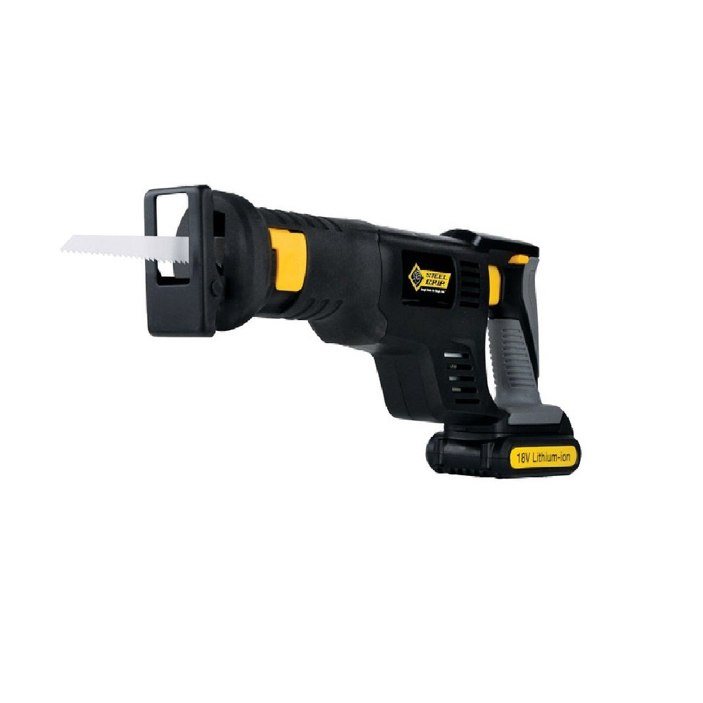 Steel Grip HL-RS07 Cordless Reciprocating Saw, Black, 18 Volt