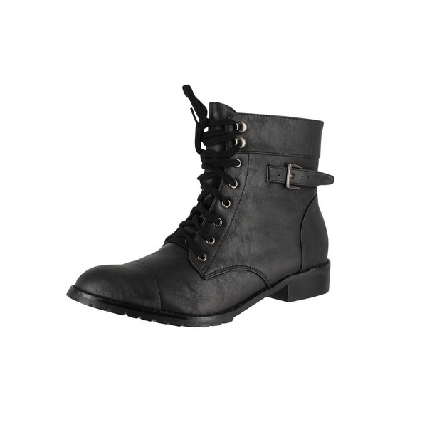 Restricted Women's Halfmoon Combat Boot - Black