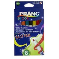 Prang Decor Glitter Markers, Assorted Colors, Set of 8