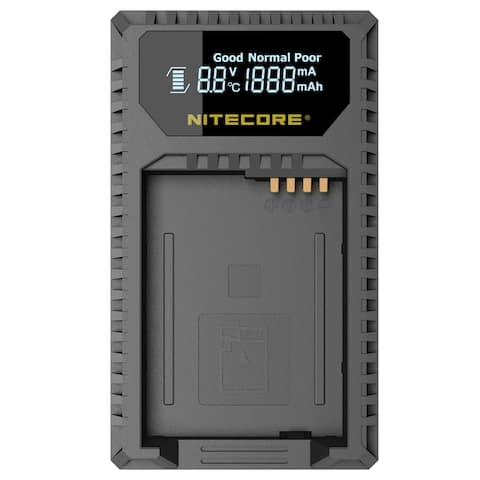 NITECORE ULQ Leica Digital USB Battery Charger for BP-DC12 Camera Batteries