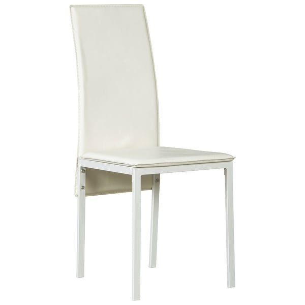 Ashley Furniture Faux Leather Upholstery Dining Room Side Chair White (6 Pack)
