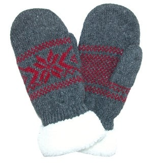 Grand Sierra Women's Ragg Wool Snowflake Mitten - One size