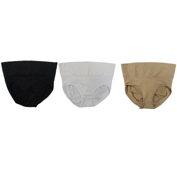 25bff0b9992 Shop Women Seamless Shapewear Derriere Enhancing Control Brief Panties (3  Pack) - Black Beige White - Free Shipping On Orders Over  45 - Overstock -  ...