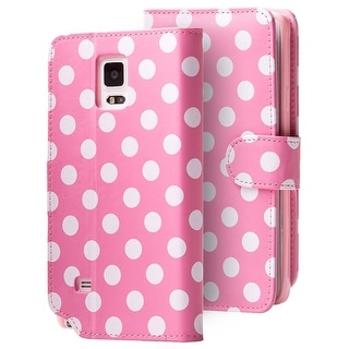 Galaxy Note 4 Leatherbook Dalmatian Pink