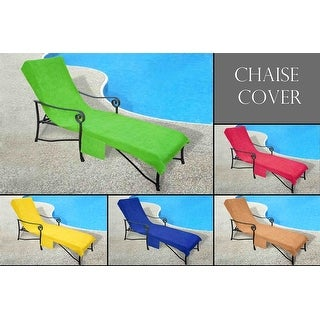 Chaise Cover for Pool lounge, Lawn, Patio Chair with Slip-on Back