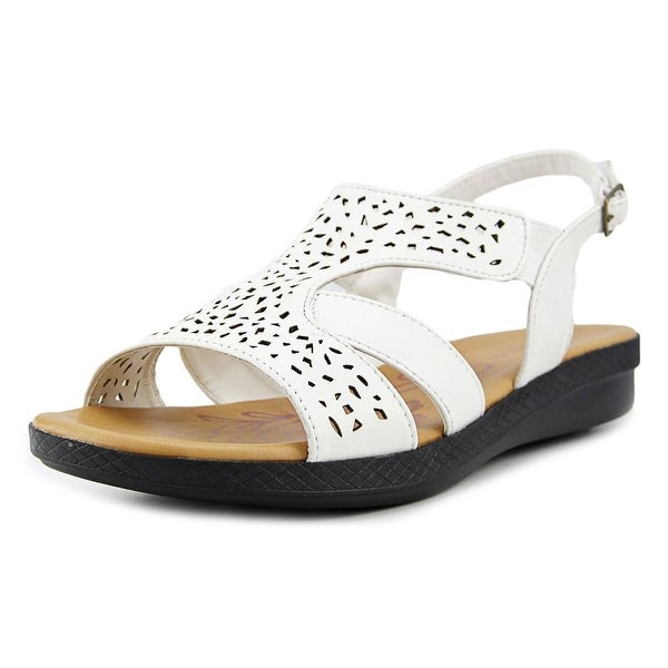 Easy Spirit Bolt Women WW Open-Toe Synthetic White Slingback Sandal