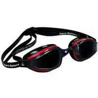 Aqua Sphere K-180 Smoke Lens Competition Swim Goggles - Black/Red