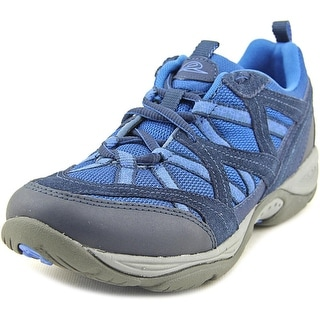 Easy Spirit Explore Map Women W Round Toe Leather Blue Sneakers