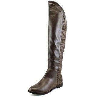Chinese Laundry Racer Women Round Toe Synthetic Brown Over the Knee Boot