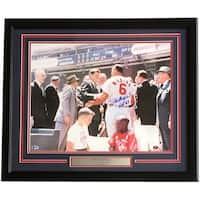 Stan Musial Signed Framed 16x20 St Louis Cardinals JFK Photo HOF 69 BAS+Musial