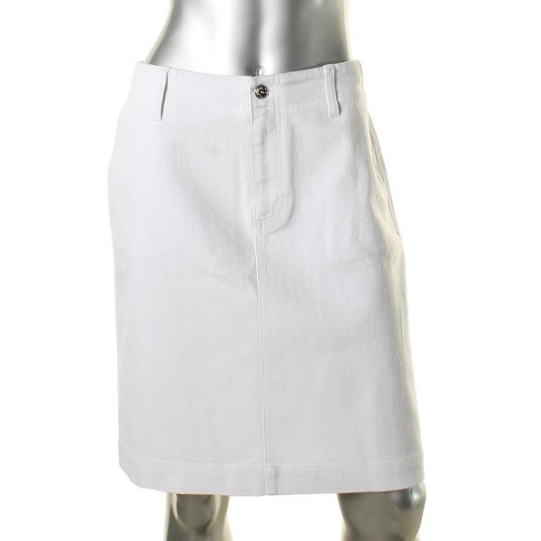 3eef0a2feb96 Shop Anne Klein Womens Pencil Skirt White Wash Back Buckles - Free Shipping  On Orders Over $45 - Overstock - 16203718