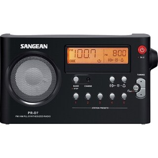 Sangean PRD5BKB Sangean PR-D5P Portable Radio with Digital Tuning and Rds