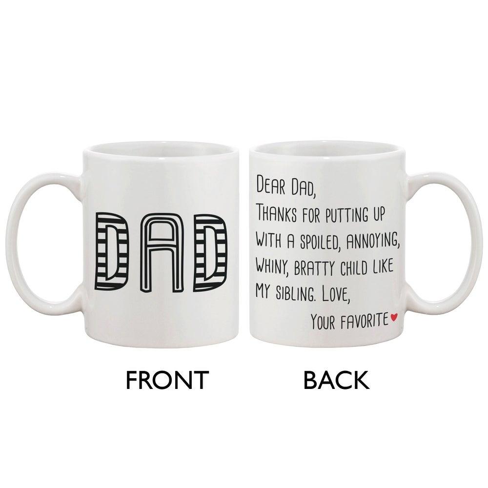 I have a Hero I call him Dad Ceramic Coffee Mug Black with White Gift Box