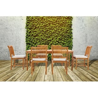 Link to Chic Teak Bermuda Rectangular Teak Wood Patio Bistro Dining Table, 55 x 35 inch (Table Only) Similar Items in Patio Furniture