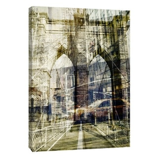 "PTM Images 9-109027  PTM Canvas Collection 10"" x 8"" - ""Brooklyn"" Giclee Brooklyn Bridge Art Print on Canvas"