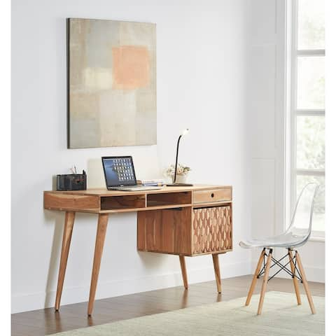 Honeycomb Office Desk With Storage Modern and Contemporary