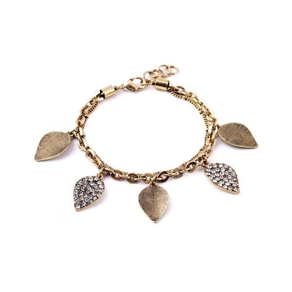 Leaves Of Gold And Light Charm Bracelet