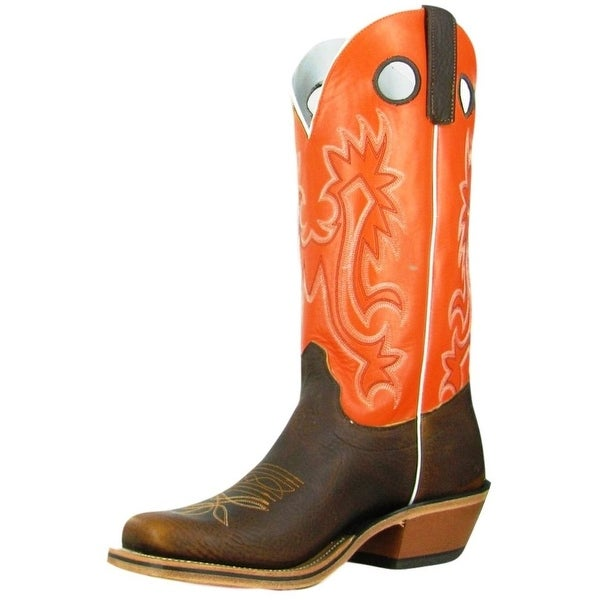 Olathe Western Boots Mens Leather Cowboy Cutter Toe Briar Tanager
