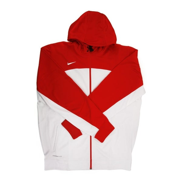b81185b26e Shop Nike Therma-FIT Men's White/Red Full Zip Training Hoodie - 2X Large -  Tall - Free Shipping Today - Overstock - 21293843