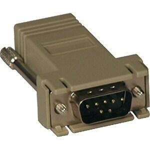 Tripp Lite B090-A9M Tripp Lite B090-A9M Modular Adapter - 1 x DB-9 Male Serial - 1 x RJ-45 Network - Beige