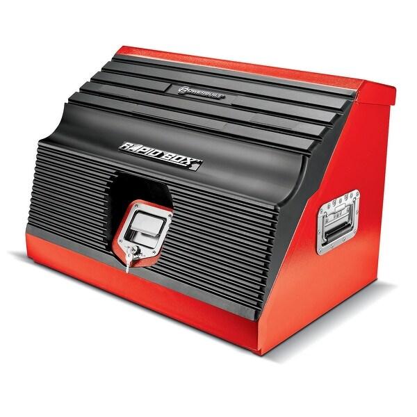 Powerbuilt 26 in. Rapid Box Portable Slant Front Tool Box Red - 642677