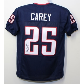 Kadeem Carey Autographed Arizona Wildcats Custom Size XL Blue Jersey JSA