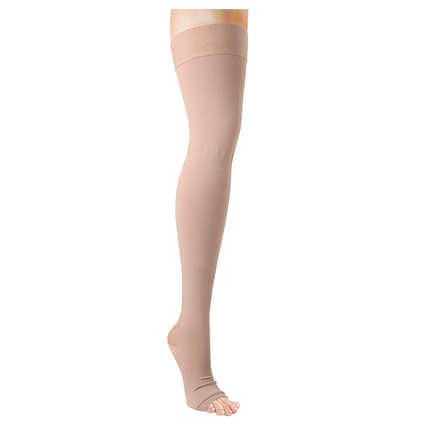 Women's Support Plus Surgical Support Thigh High Stockings - Open Toe