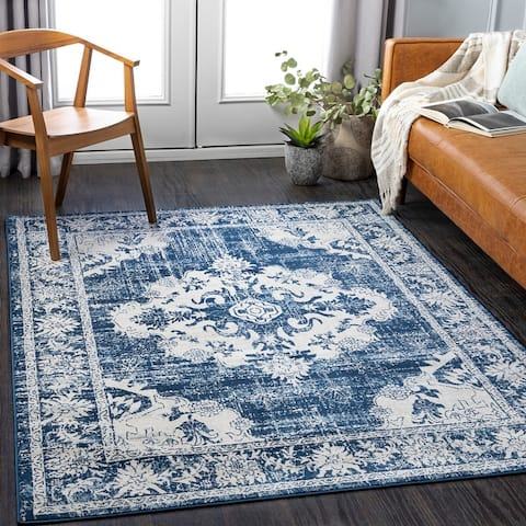 Clairee Distressed Medallion Area Rug