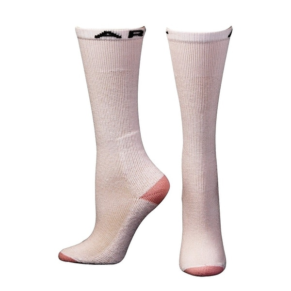 Ariat Socks Womens Over the Calf Reinforced White Pink