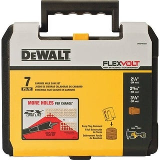 Dewalt 0801902 7 Piece Flexvolt Carbide Wood Hole Saw Set