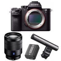 Sony Alpha a7SII Mirrorless Digital Camera with 24-70mm OSS Lens and Mic Bundle