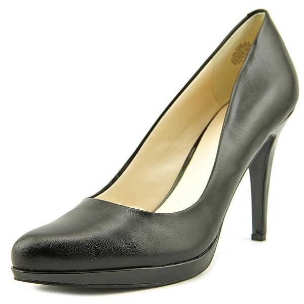 Nine West Wise Up Women Pointed Toe Leather Black Heels