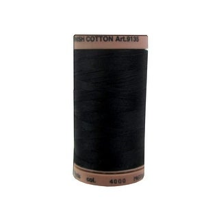 9135 4000 Mettler Silk Finish Cotton 40 500yd Black