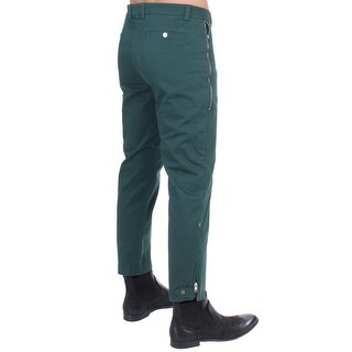 Costume National Costume National Green cotton stretch pants - it48-m