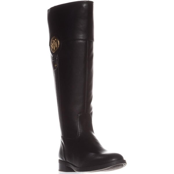 Tommy Hilfiger Ilia2 Wide Calf Riding Boots, Black