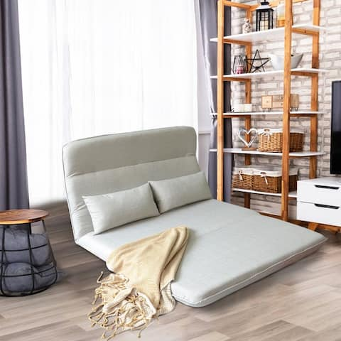 Sofa Bed Folding Sofa Floor Chair Sofa bed with 2-Pillows