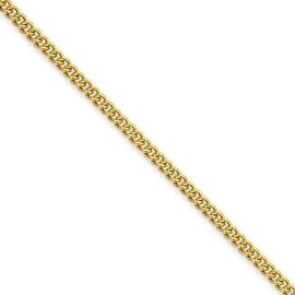 Stainless Steel IP Gold Plated 2 25mm 18in Round Curb Chain 2 3 Mm 18 In