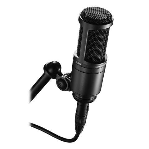 Audio-Technica Cardioid Condenser Studio XLR Microphone, Black