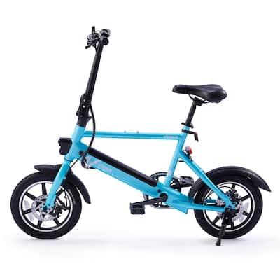 VIRIBUS Folding Electric Bike w Dual Disc Brakes 14-Inch Road Bicycle