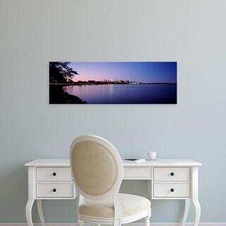 Easy Art Prints Panoramic Images's 'Buildings Along A Lake, Lake Monona, Madison, Wisconsin, USA' Premium Canvas Art